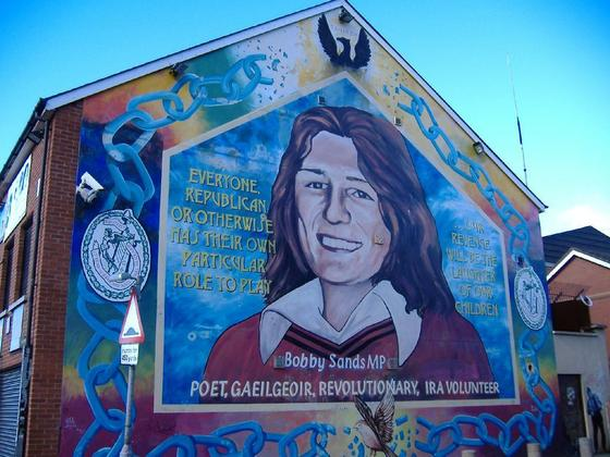 Ira the g manifesto for Bobby sands mural